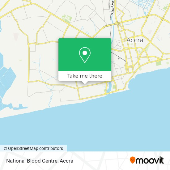 National Blood Centre map