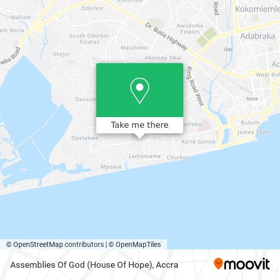 Assemblies Of God (House Of Hope) map