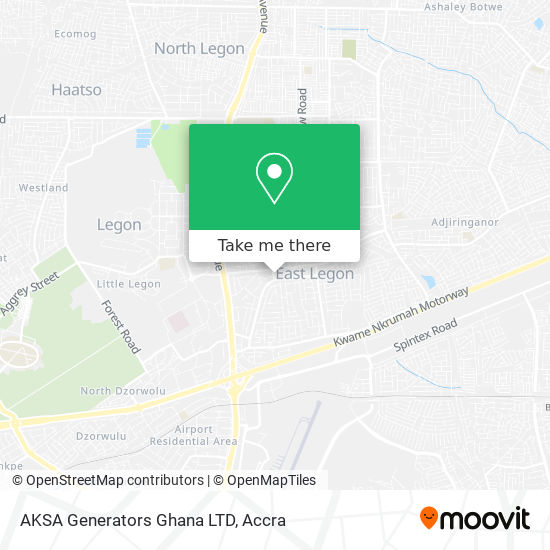 AKSA Generators Ghana LTD map