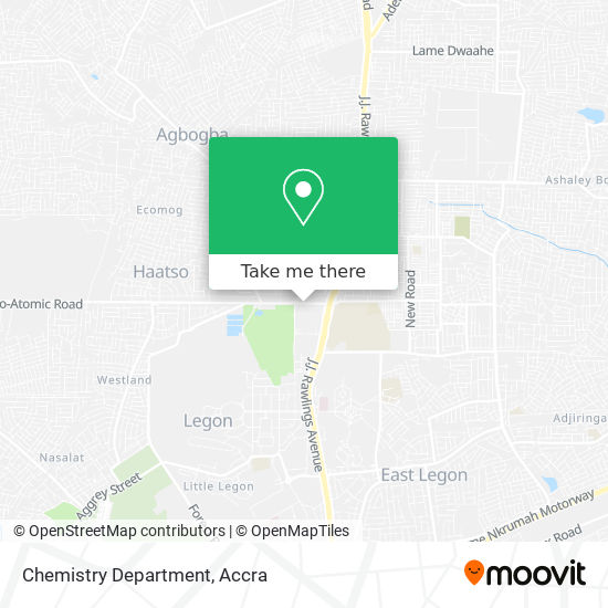 Chemistry Department map