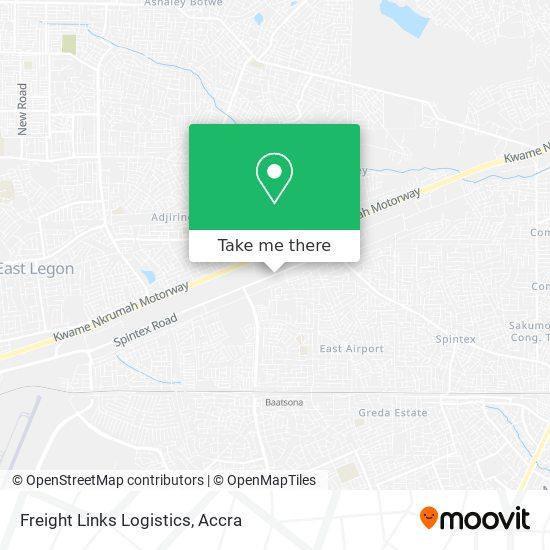 Freight Links Logistics map
