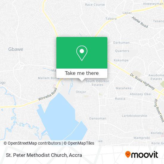 St. Peter Methodist Church map