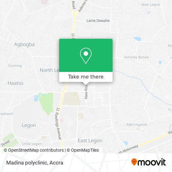 Madina polyclinic map