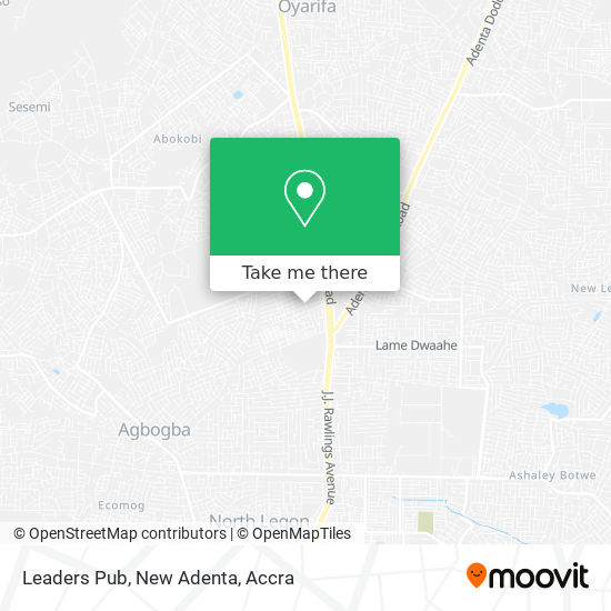 Leaders Pub, New Adenta map