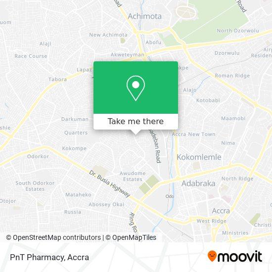PnT Pharmacy map