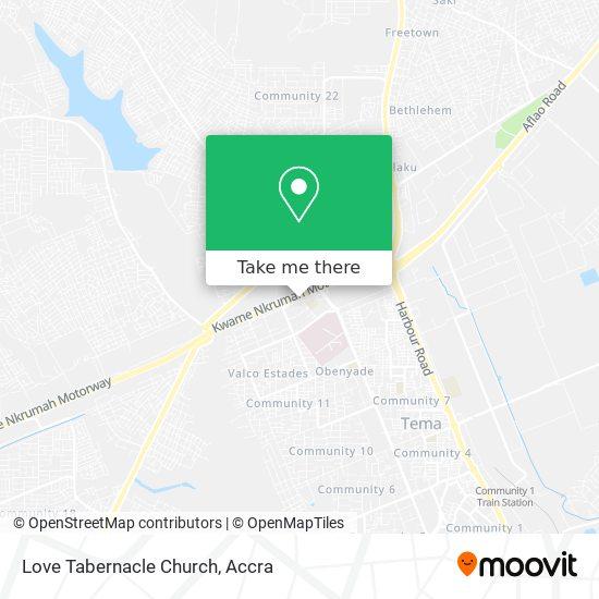 Love Tabernacle Church map