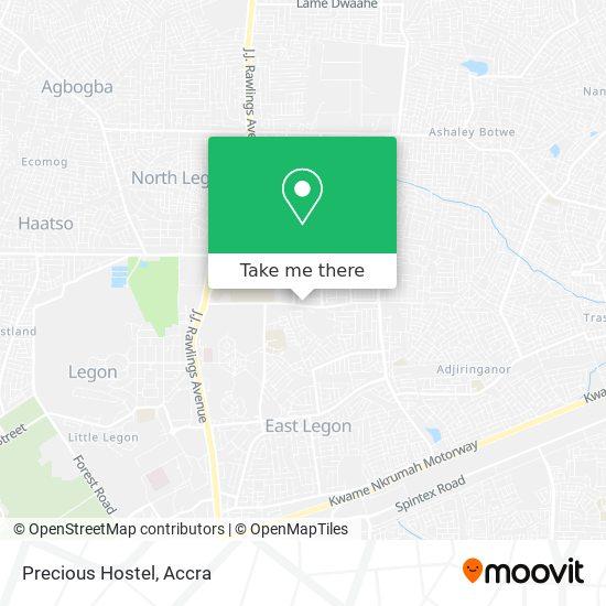 Precious Hostel map