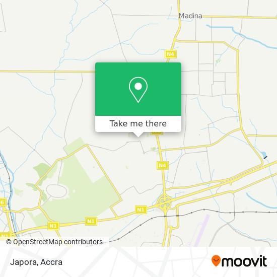 Japora map