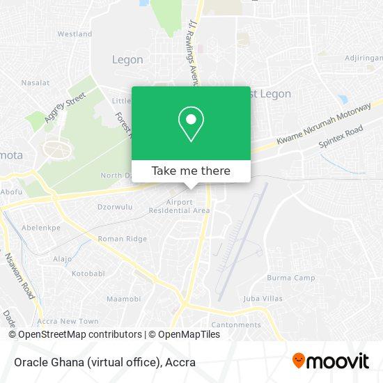 Oracle Ghana (virtual office) map
