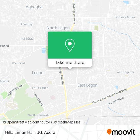 Hilla Liman Hall, UG map