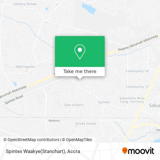 Spintex Waakye(Stanchart) map