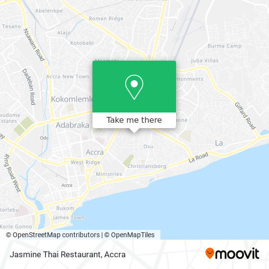 Jasmine Thai Restaurant map