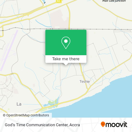 God's Time Communication Center map