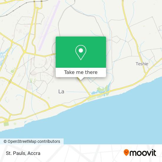 St. Pauls map