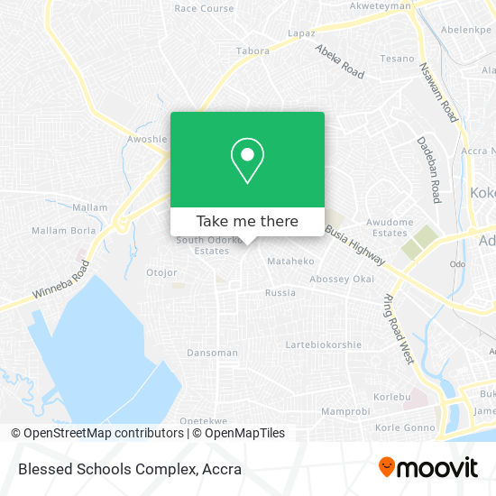Blessed Schools Complex map