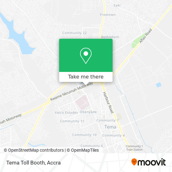 Tema Toll Booth map