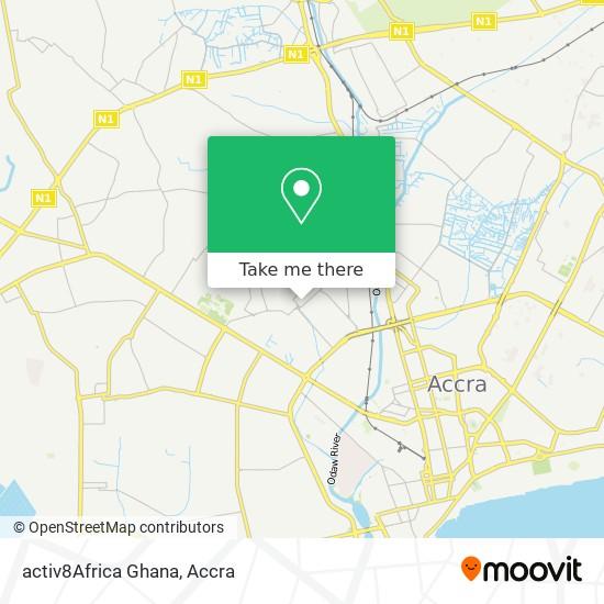 activ8Africa Ghana map