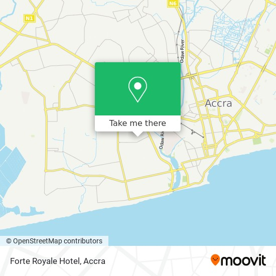 Forte Royale Hotel map