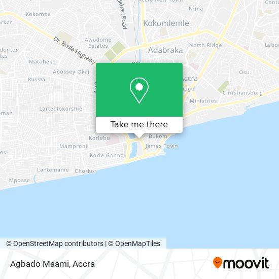 Agbado Maami map