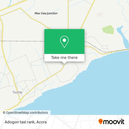 Adogon taxi rank map