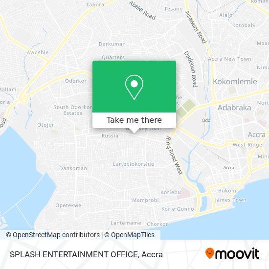 SPLASH ENTERTAINMENT OFFICE map