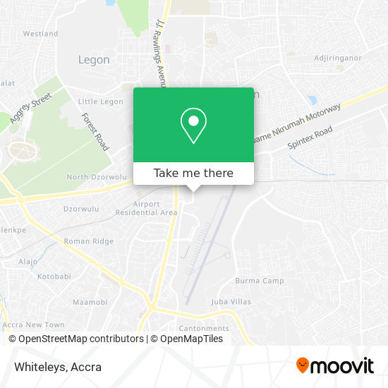 Whiteleys map