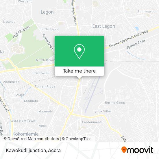 Kawokudi junction map