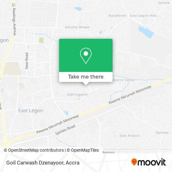 Goil Carwash Dzenayoor map
