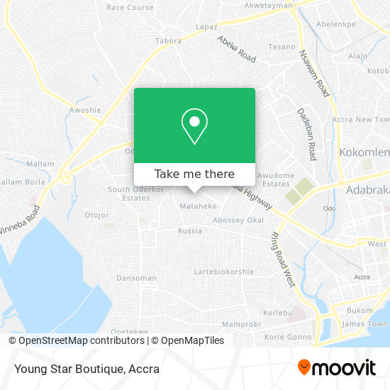 Young Star Boutique map