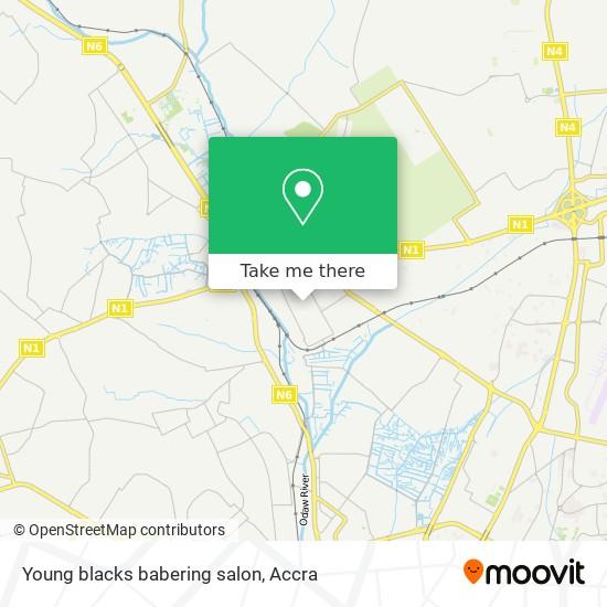 Young blacks babering salon map