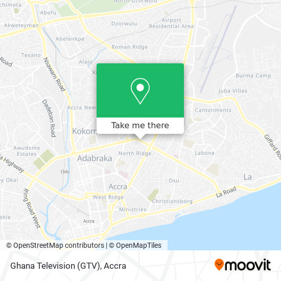 Ghana Television (GTV) map