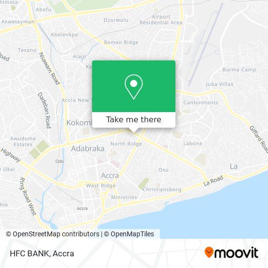 HFC BANK map