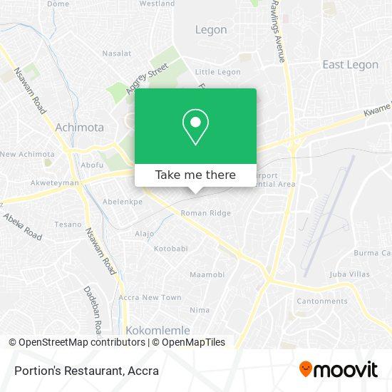 Portion's Restaurant map