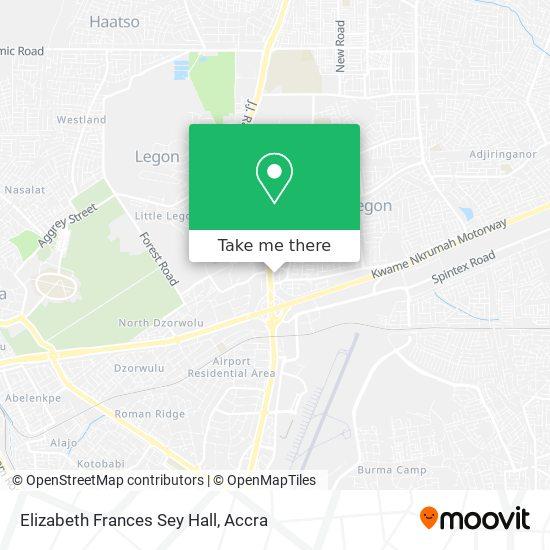 Elizabeth Frances Sey Hall map