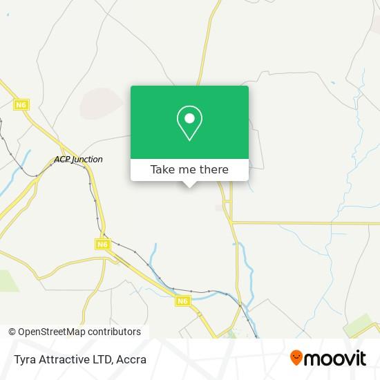 Tyra Attractive LTD map