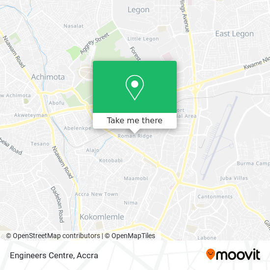 Engineers Centre map