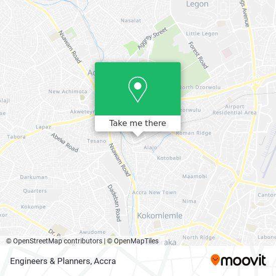 Engineers & Planners map