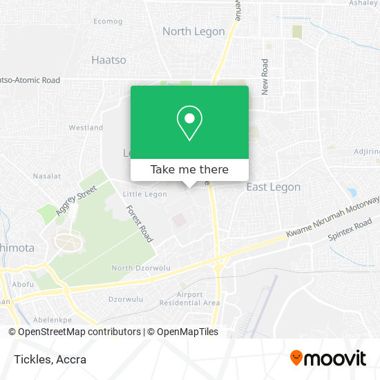 Tickles map