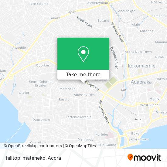 hilltop, mateheko map
