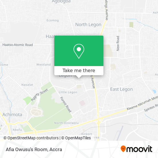 Afia Owusu's Room map