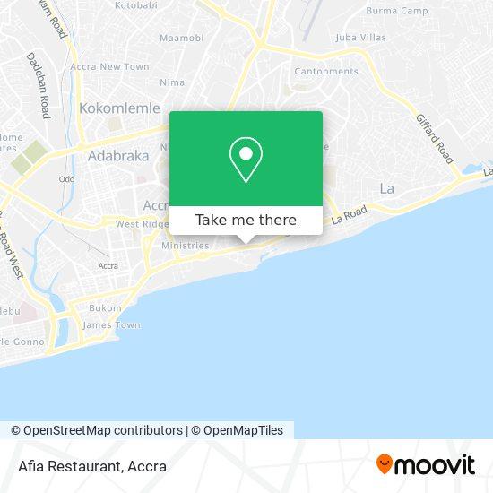Afia Restaurant map