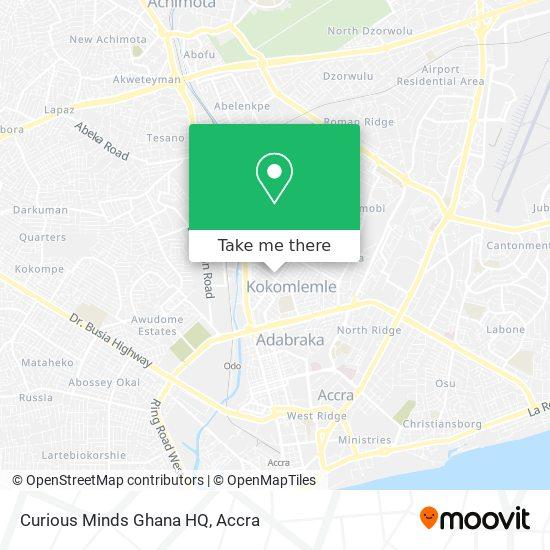 Curious Minds Ghana HQ map