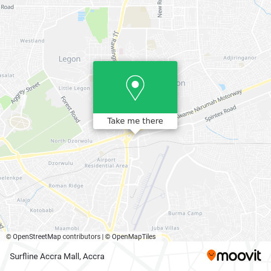 Surfline Accra Mall map