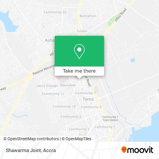 Shawarma Joint map