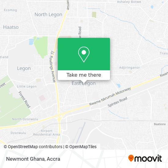 Newmont Ghana map