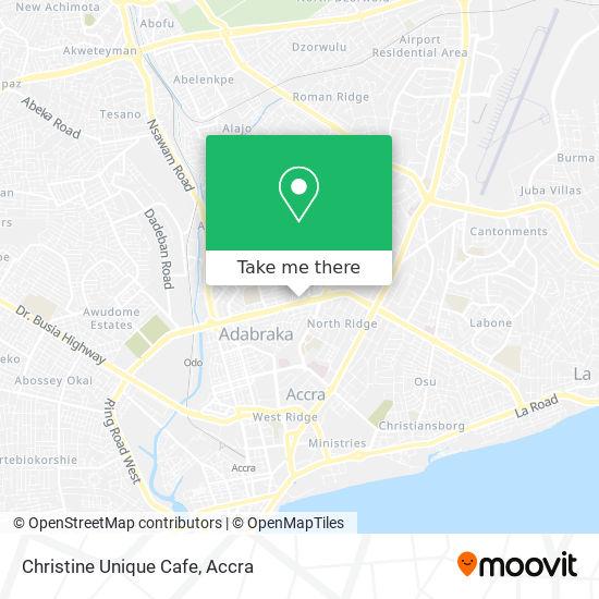 Christine Unique Cafe map