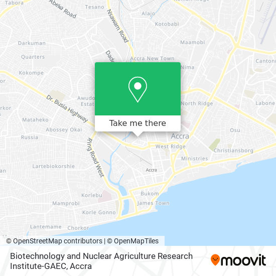 Biotechnology and Nuclear Agriculture Research Institute-GAEC map