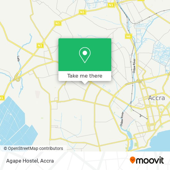 Agape Hostel map
