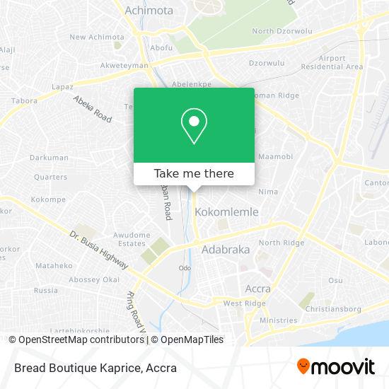 Bread Boutique Kaprice map