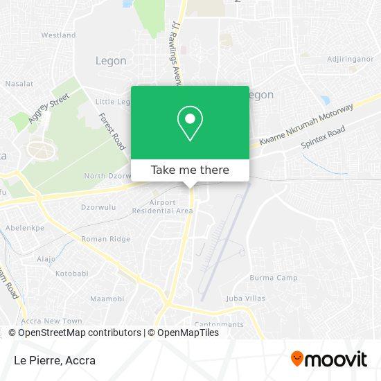 Le Pierre map